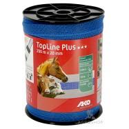 Elektriskā gana lente TopLine Plus zils 20mm/200m