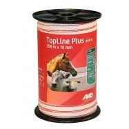Elektriskā gana lente dzeltens TopLine Plus 10mm/200m
