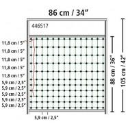 Vārti elektriskā gana tīklam 86x105cm