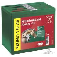 Elektriskā gana akumulators AKO Alkaline 9V 170Ah