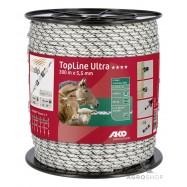 Elektriskā gana virve AKO TopLine Ultra 5,5mm 300m